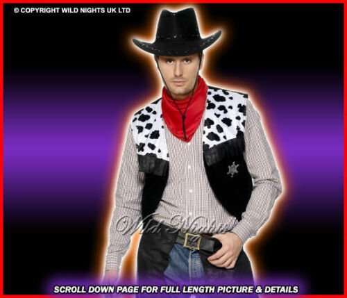 FANCY DRESS COSTUME # WILD WEST COWBOY BLACK MED//LG