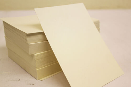 A5 CREAM / IVORY CARDS 250gsm - PLAIN SHEETS - Craft Card 148mm x 210mm