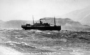 Photo 1918 Alaska Steamer Princess Sophia Stuck on Reef