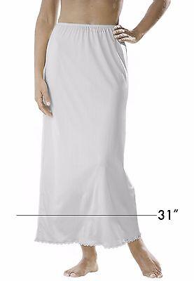 "M Sale ** Comfort Choice White Nylon 31"" Length Half Slip 34""-37½"" New~"