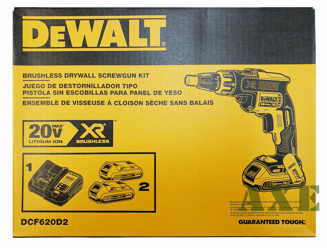 DEWALT 20V MAX XR Cordless Li-Ion BL Drywall Screwgun Kit DCF620D2 New