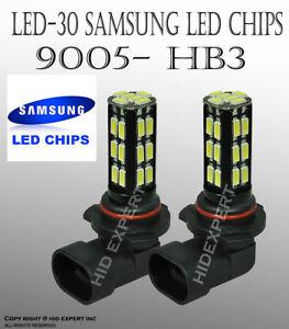 x2 9005 HB3 Samsung LED 30 SMD White Headlight Xenon Light Bulbs High Beam O604