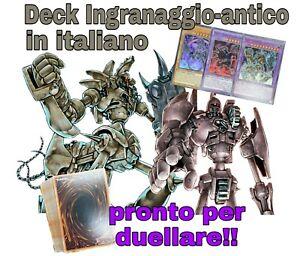 Yu-Gi-Oh-Deck-Mazzo-Completo-Ingranaggio-Antico-ITALIANO-40-Carte-EXTRA