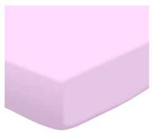 """22 Solid Colors 24/"""" x 38/"""" Mini Crib Sheets NEW Knit Fitted Portable Crib Sheet"""