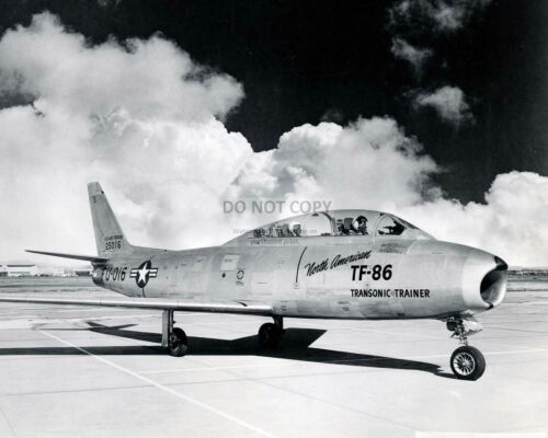 8X10 PHOTO ZZ-212 NORTH AMERICAN TF-86 SABRE TWO-SEAT TRAINER AIRCRAFT