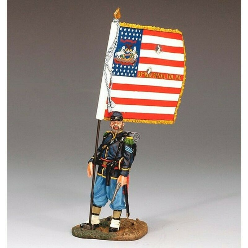 "King & Country-Porte-Drapeau Infanterie Amerikanisch,Verbindung,""Nordstaaten  ,"