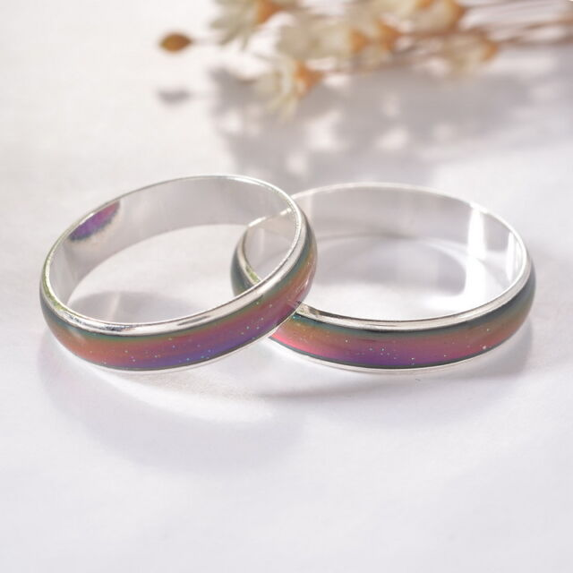 1PC Amazing Change Color Temperature Mood Rings Emotional Feeling Band Available