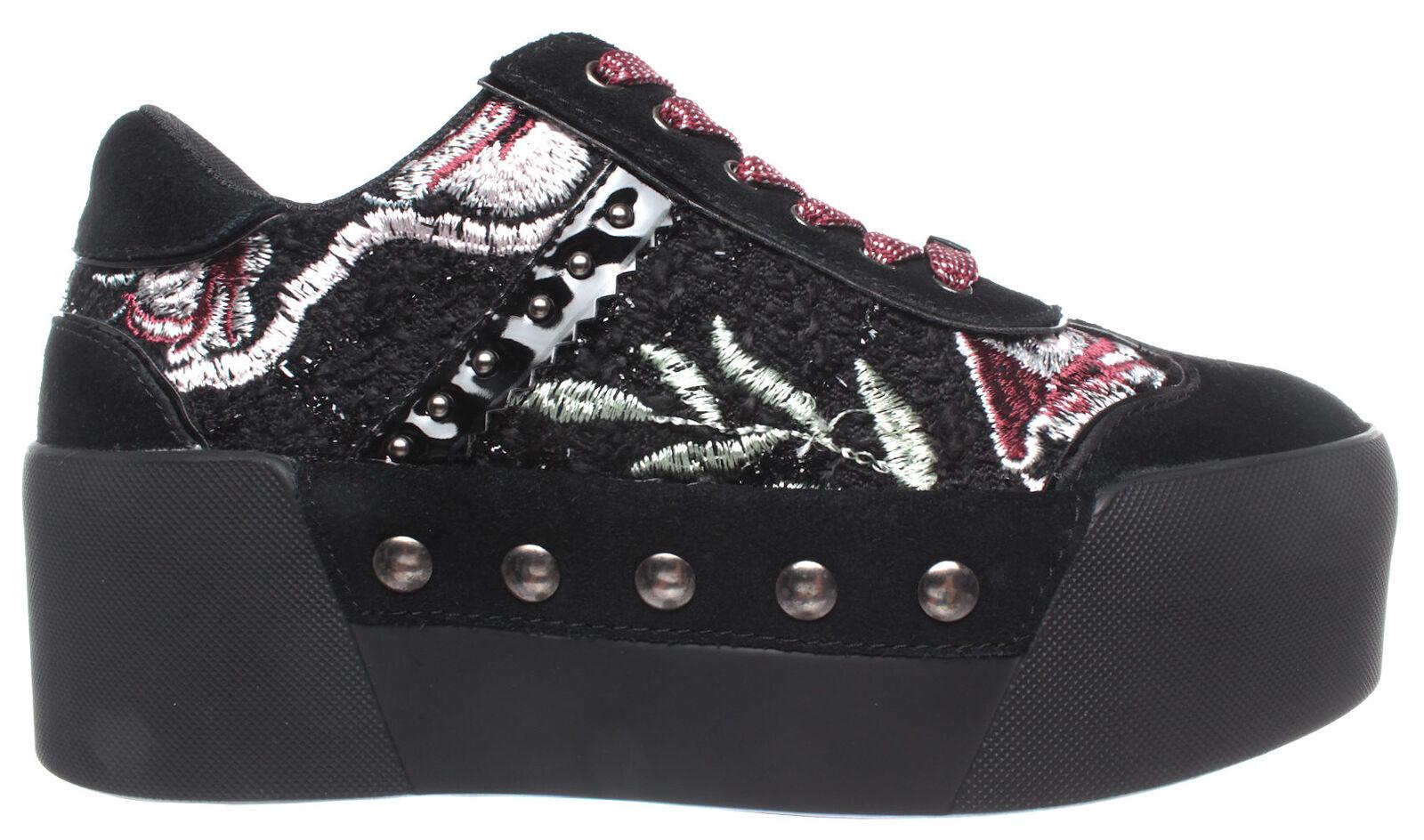 Liu jo señora zapatos casual zapatillas maxy 01 serraje negro rubin nuevo