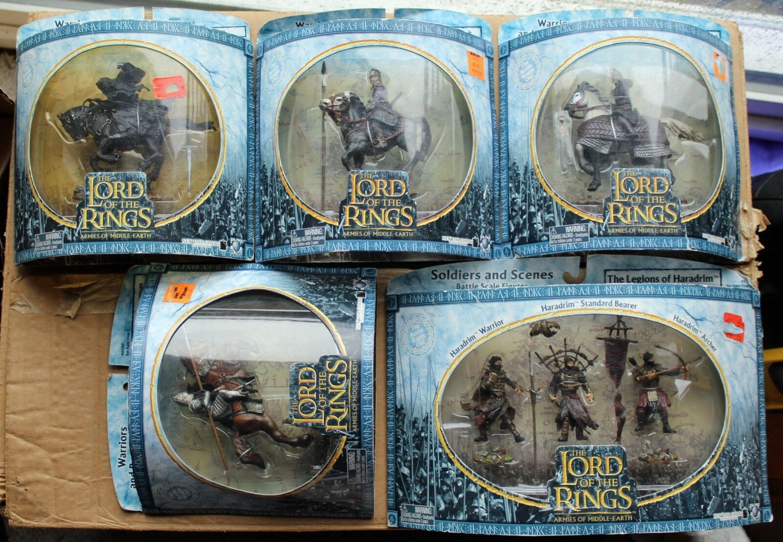 Lord of the Rings LOTR 7 figures  Haradrim warriors, knights & wraith rider MIB