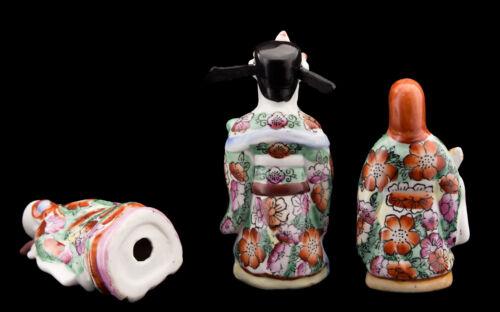 3 kluge Chinesisch Dieu Fuk Luk sau Fu lu Shou aus Porzellan China 13cm 8861