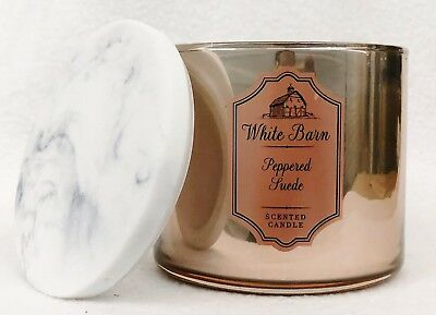 1 Bath & Body Works PEPPERED SUEDE Large Scented 3-Wick ...