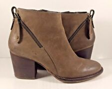 Blondo Nivada Waterproof Bootie Smooth Taupe Leather Womens Size US 7,5M