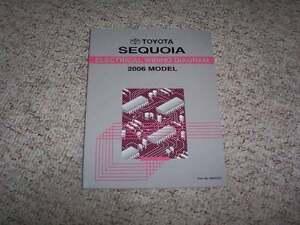 2006 Toyota Sequoia Electrical Wiring Diagram Manual SR5 ...