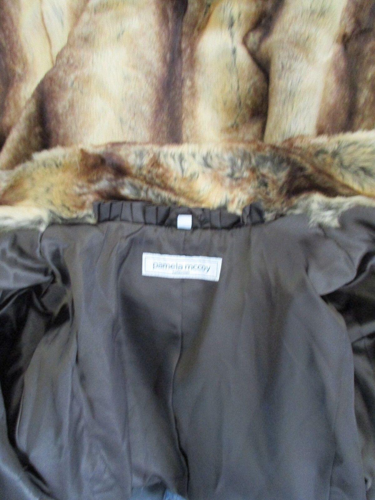 PAMELA MCCOY COLLECTION BROWN MIX FAUX LONG COAT SIZE SIZE SIZE XL - NWT 5bab75