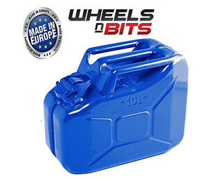 NEW HIGH QUALITY METAL POWER COATED INSIDE AN OUT RED JERRY CAN 10L LITRE CAN
