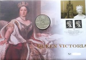 GB-QEII-PNC-moneda-Cubierta-2001-Reina-Victoria-5-moneda-UNC-Royal-Mint