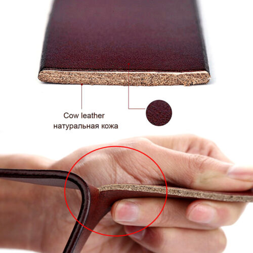 Homme 100/% Vachette Véritable Cuir Boucle Ceintures formelle /& Casual Jeans C34
