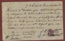 1890. Receipt. Lord Walsingham - tax. 9 Whitehall Place, London . fd47
