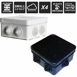 20 x Outdoor Weatherproof Junction BLack Boxes IP55 Terminal Box CCTV Small IP