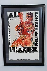 image is loading muhammad ali vs frazier 1975 034 thrilla in - Muhammad Ali Framed Pictures