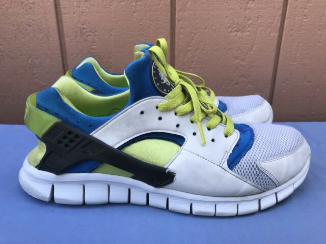 innovative design 7e159 4103f Nike Huarache Men s US 11.5 Free Run 510801-101 Running NSW White Soar Cyber