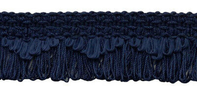"French Blue 1.5/"" Scallop Fringe Gimp By The Yard"