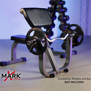 Xmark Seated Preacher Curl Weight Bench Xm 4436 Fitness
