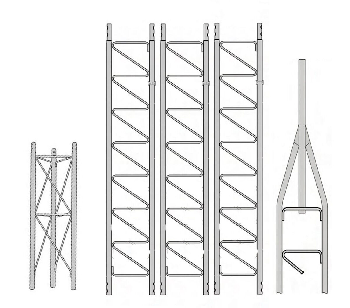 ROHN 25SS040 25G Series 40' Self Supporting Tower Kit . Buy it now for 830.00