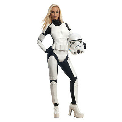 Ladies Official Star Wars Stormtrooper Halloween Fancy Dress Party Costume