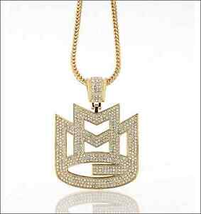 Iced out gold rick ross maybach music mmg pendant w 30 or 36 4mm image is loading iced out gold rick ross maybach music mmg aloadofball Gallery