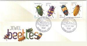 2016-FDC-Australia-Jewel-Beetles-Various-FDI-Postmarks