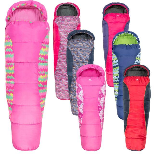 sale retailer 37da1 d2c42 Trespass Bunka Camping 2-3 season Mummy Junior Kids Sleeping Bag Boys Girls