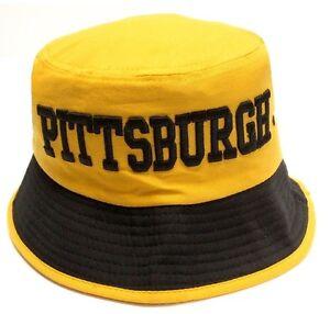 6e93ef348 Image is loading Pittsburgh-Steelers-Yellow-Bucket-Golf-Fishing-Sun-Hat-