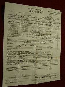 Original Used Car Invoice from 1959 for a 1953 Jaguar XK-120 for $1295