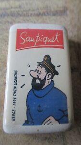 Hergé-Gomme publicitaire Saupiquet d époque-Neuve sous cello-1994