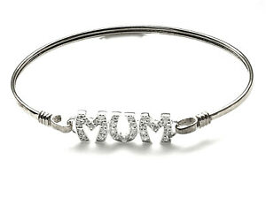 Sterling Silver Mum Torque Bangle Gift Boxed