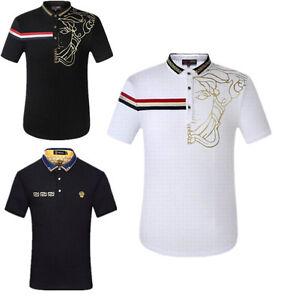 New Style-Versace Polo Shirt/Men's Fashion Summer T-shirt-