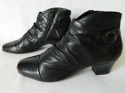 CONFORTISSIMO Di Fontana boots bottes bottines CUIR plissé noir zip 36 TTBE | eBay