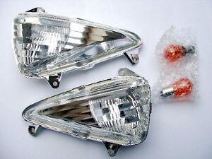 Weisse-klare-Front-Blinker-Honda-Varadero-XL-1000-V-SD02-SD03-Baujahr-2003-2011