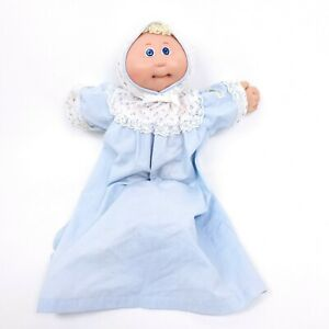 Cabbage-Patch-Preemie-Baby-Doll-1985-Xavier-Roberts-Coleco-Blonde-Blue-Eyes