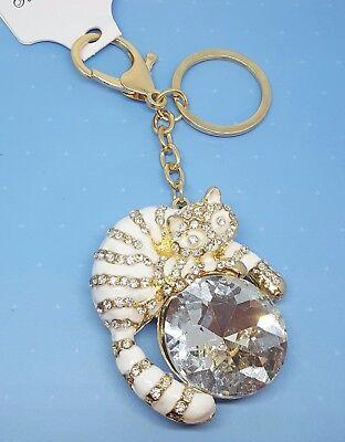 Para mujer Llavero Bolso Encanto Anime Diamantes de Imitación de Cristal CZ KEYRING LLAVERO REGALO