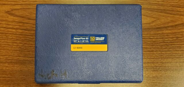 """Yellow Jacket 60455 Swage Flare Kit 3/4"""" - 1-1/8"""" OD With Case"""
