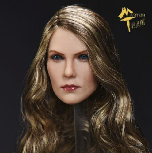 1//6 American Female Head Sculpt cheveux bruns pour Hot Toys PHICEN Figure ❶ USA ❶