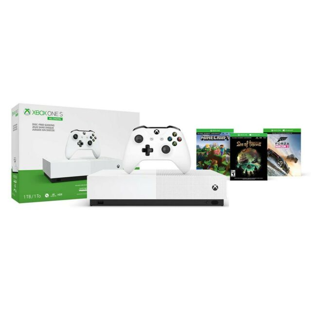 Microsoft Xbox One S 1TB All-Digital Edition Console (Disc-free Gaming)-New