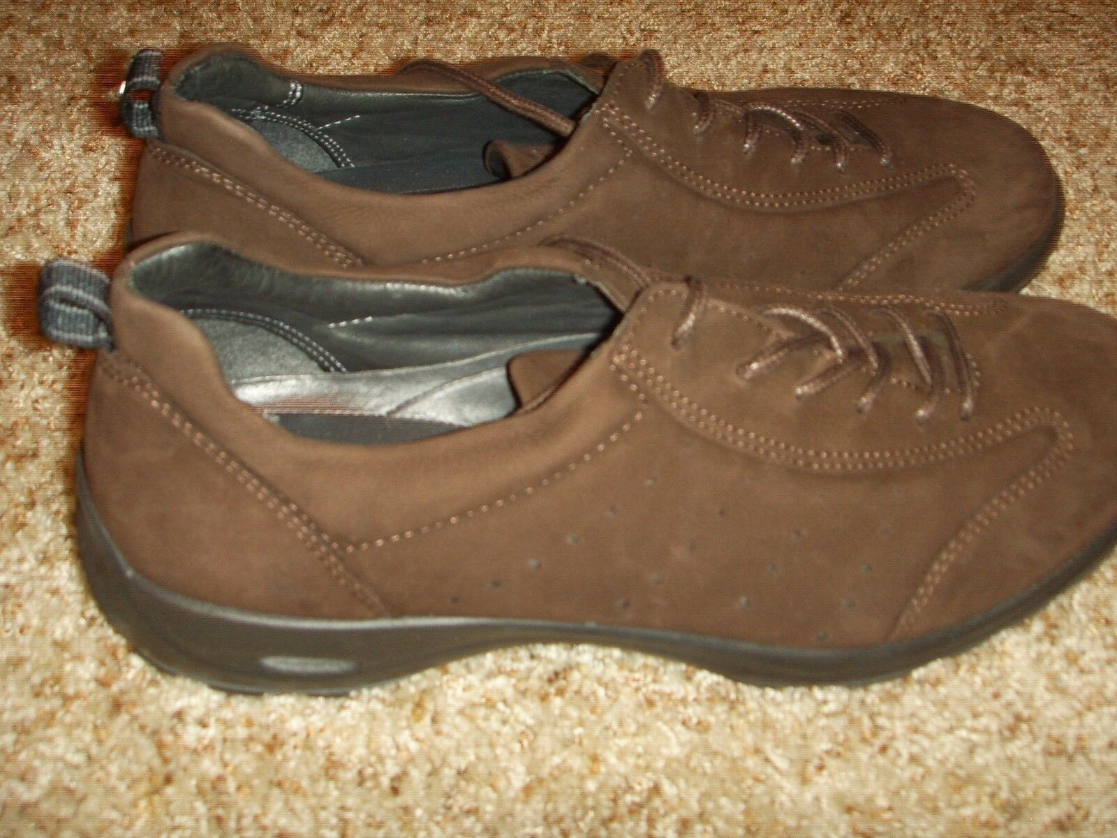 ECCO Dark Braun Suede vegetable tanned Oxford Damenschuhe Größe 40