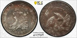1808  50C CAPPED BUST SILVER HALF DOLLAR - PCGS VF35  #40276518 - ALMOST XF!