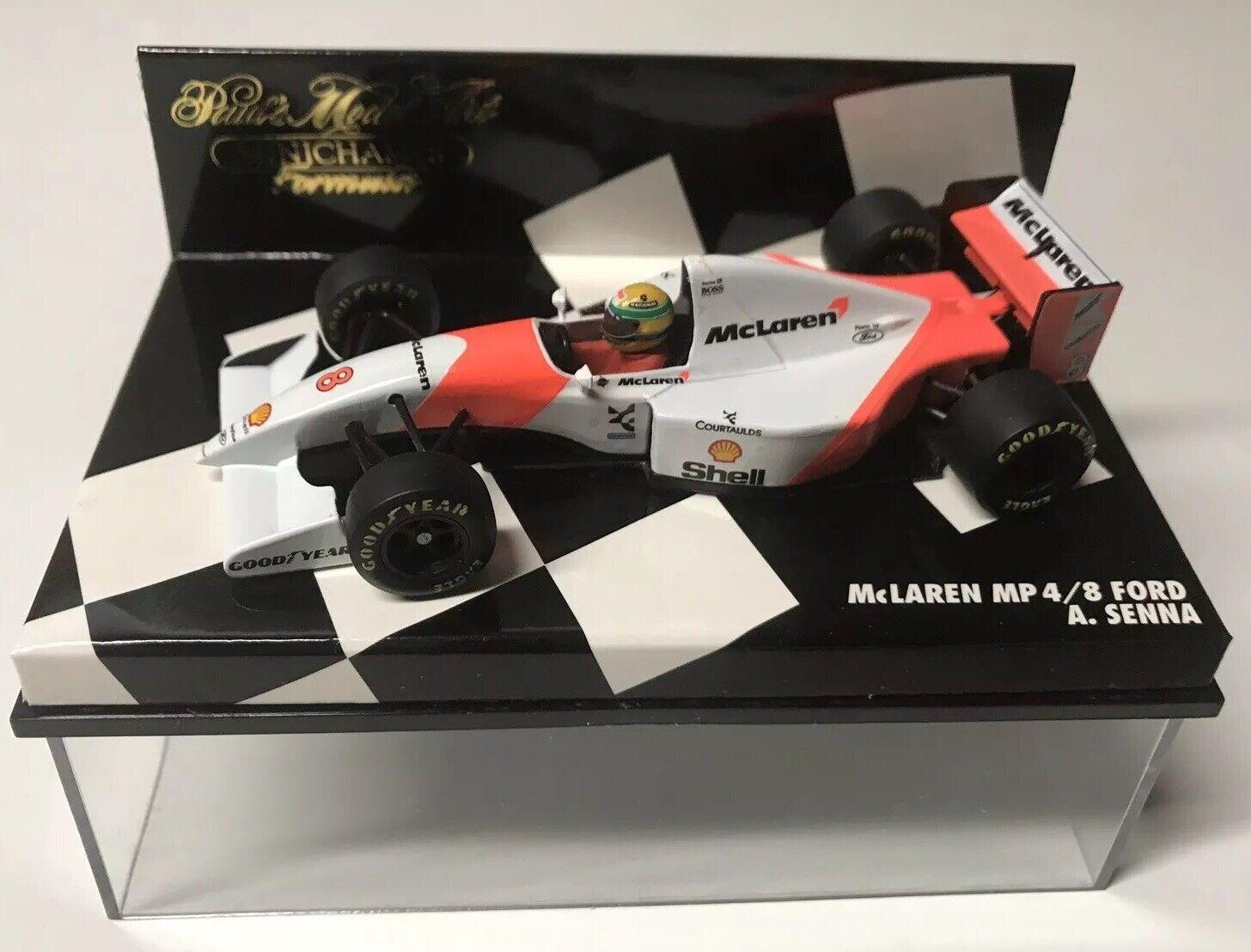 Minichamps 1993 Ayrton Senna  8 McLaren Ford MP4 8 GP 1 43 NIB •
