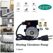3 Speed Circulator Pump Household Heating Recirculation Pump 65lm 110v Blue