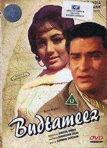 Budtameez-Shammi-Kapoor-Sadhna-neu-Original-Bollywood-DVD-Englisch-Untertitel
