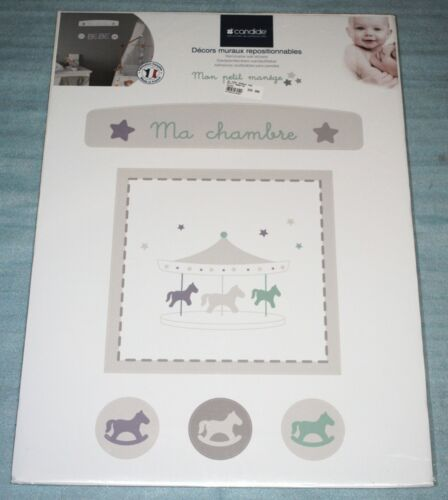 Stickers décor muraux repositionnables Candide Mon Petit Manège